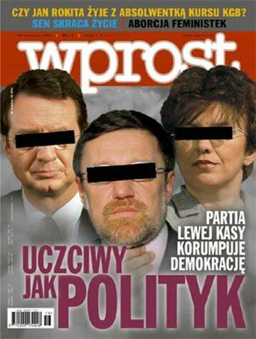 Okładka tygodnika Wprost nr 16/2004 (1116)