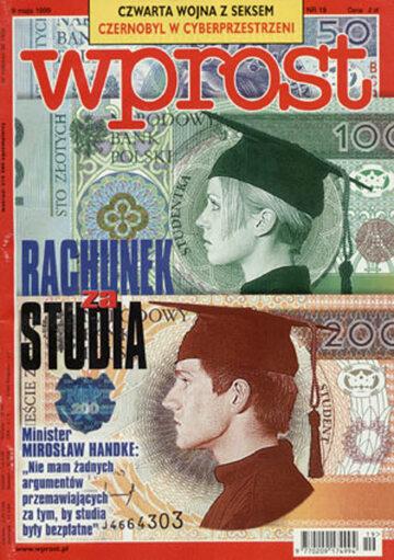 Okładka tygodnika Wprost nr 19/1999 (858)