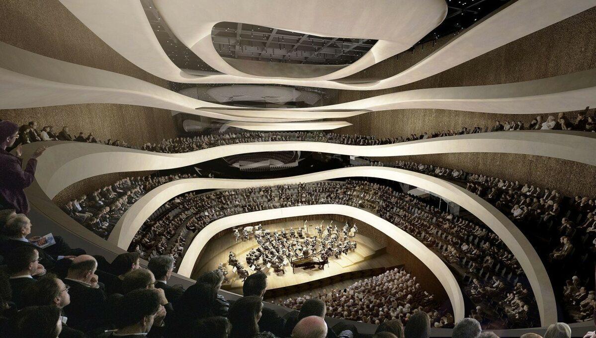 Sinfonia Varsovia Nowy gmach Sinfonia Varsovia z pozwoleniem na budowę