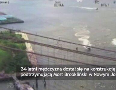Rosyjski turysta wdrapał się na pylon Mostu Brooklińskiego. Chciał...