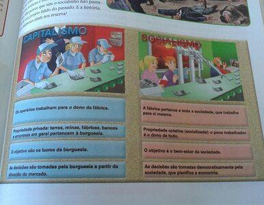W podręczniku - smutni kapitaliści, radośni socjaliści