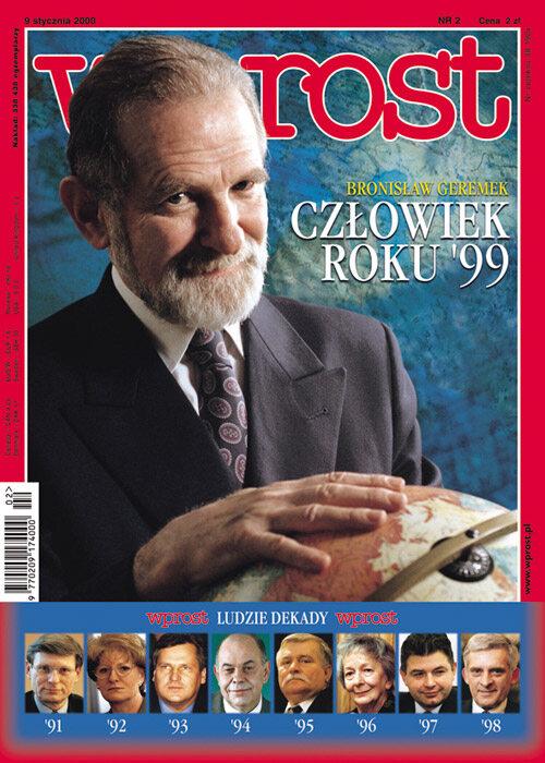 Okładka tygodnika Wprost nr 2/2000 (893)