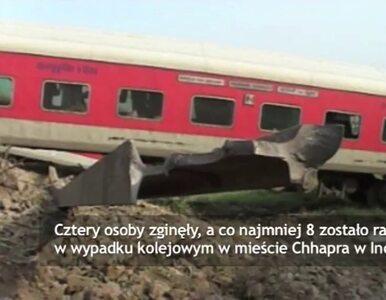 Wykolejenie pociągu w Indiach. Cztery osoby zginęły