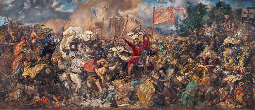 "Obraz Jana Matejki ""Bitwa pod Grunwaldem"""