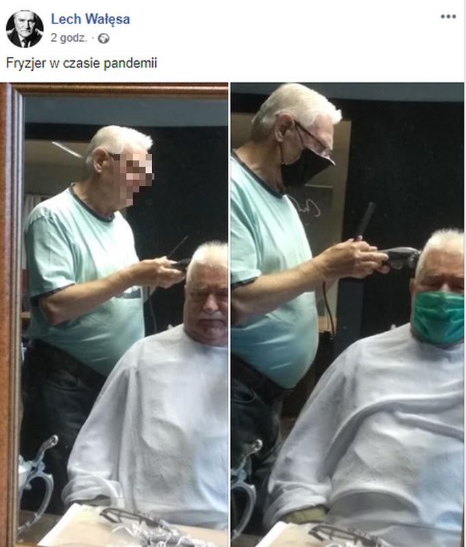 Lech Wałęsa ufryzjera