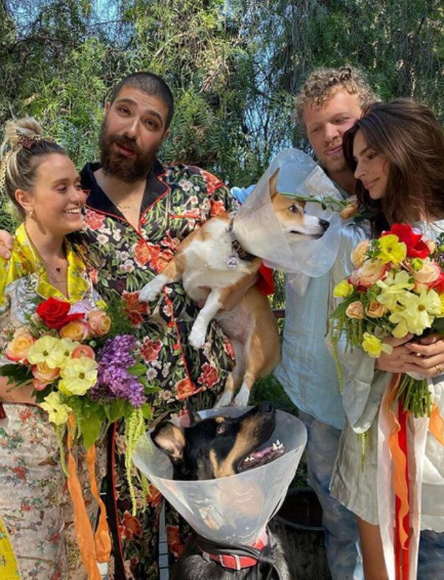 Emily Ratajkowski zorganizowała ślub swojemu psu
