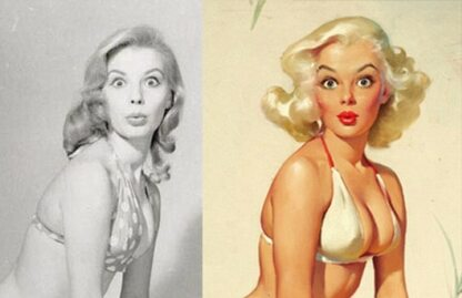 Pin-up girls przed retuszem. Różnice? Sam oceń