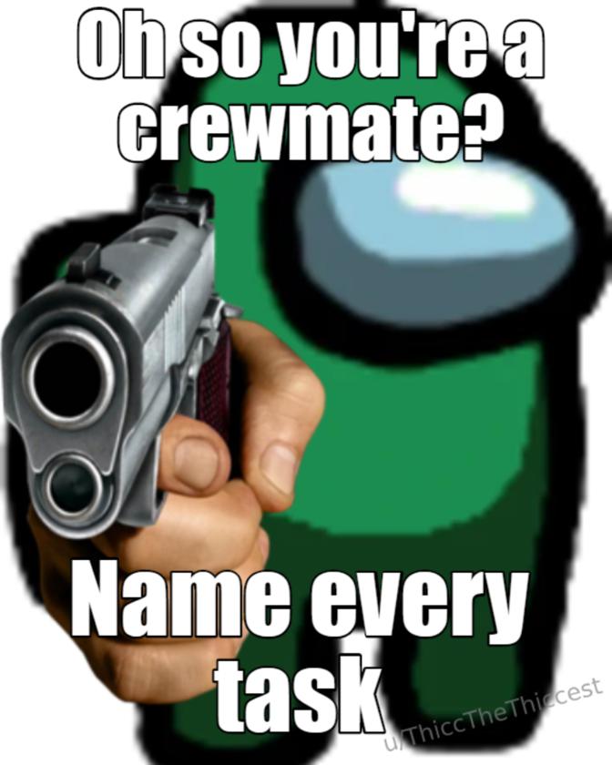 Mem z gry Among Us