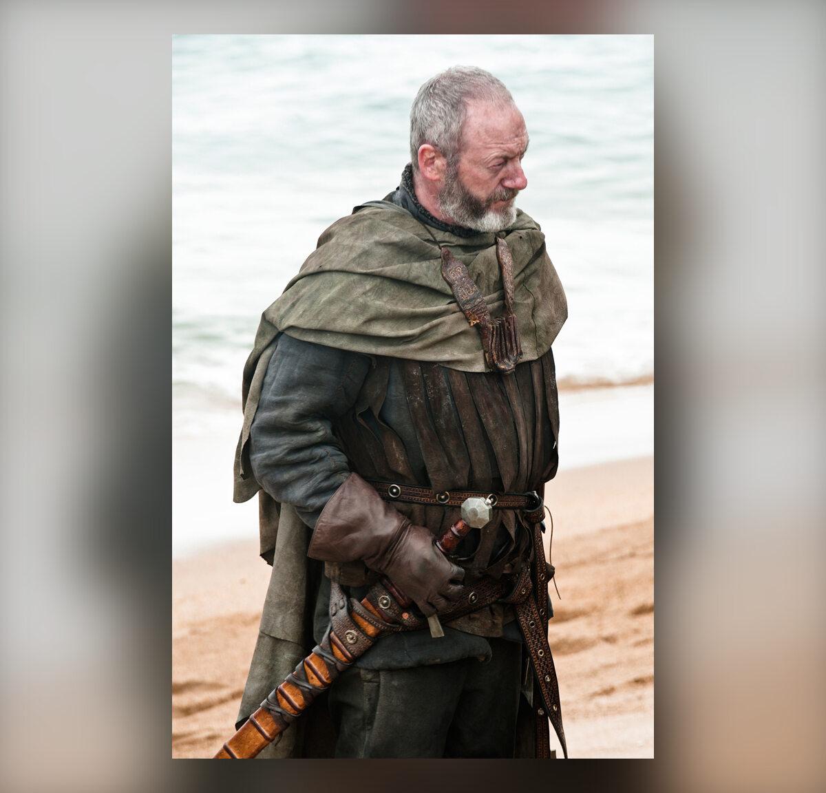 """Davos Seaworth po raz pierwszy w """"Grze o tron"""" W Davosa wciela się aktor Liam Cunningham."""