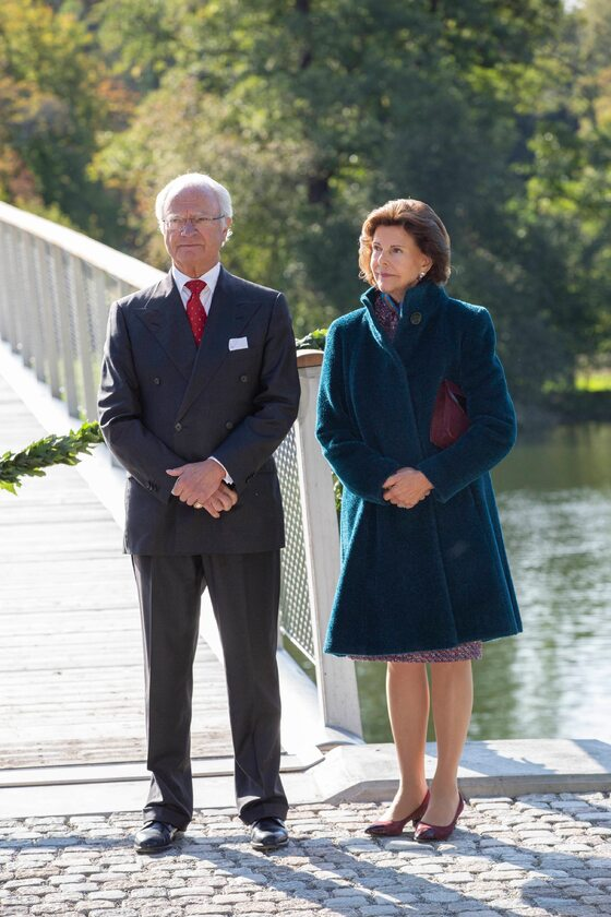 Król Szwecji Karol XVI Gustaw wraz z żoną Silvią