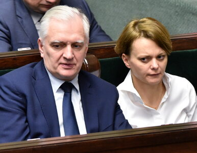Dziennikarz zapytał Jarosława Gowina o sprawę Jadwigi Emilewicz....