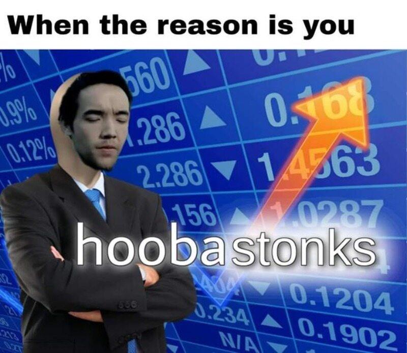 """Przykład mema potocznie określanego jako """"Stonks"""""""