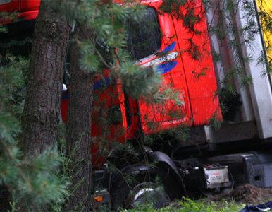 """Czołowe zderzenie ciężarówek. Krajowa """"11"""" zablokowana"""