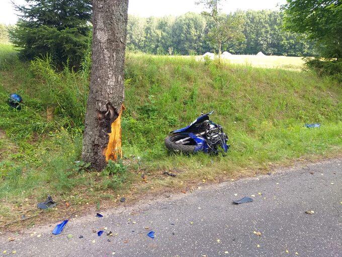 Śmiertelny wypadek motocyklisty