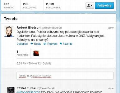Biedroń o stanowisku Polski ws. Palestyny: dyplożenada