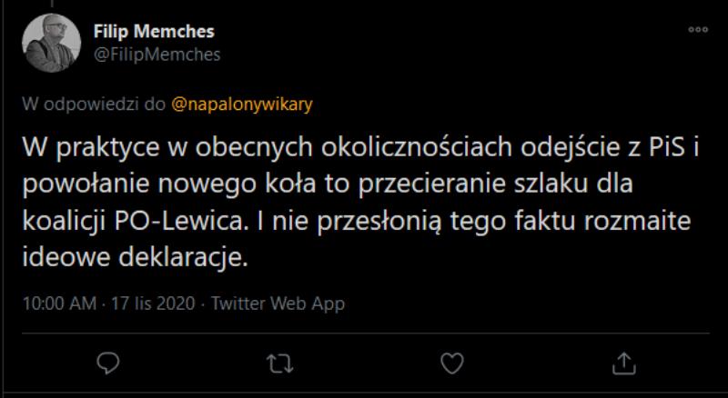 Komentarz dziennikarza Filipa Memchesa do fałszywego wpisu Lecha Kołakowskiego