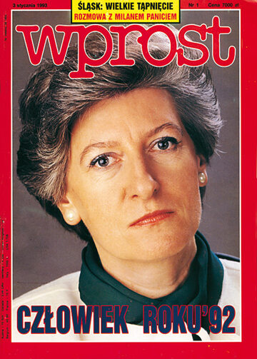 Okładka tygodnika Wprost nr 1/1993 (528)