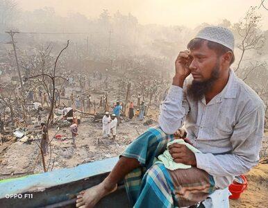 Pożar w obozie dla uchodźców w Bangladeszu. Doszczętnie zniszczone...