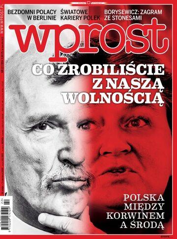 Okładka tygodnika Wprost nr 22/2016 (1738)