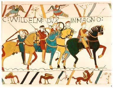 14 października 1066 Bitwa pod Hastings. Decydujące starcie w inwazji   Normanów na Anglię w 1066 roku pomiędzy wojskami Normanów pod dowództwem   Wilhelma Zdobywcy a pospolitym ruszeniem anglosaskim i gwardii dowodzonymi przez króla Harolda II. (fot. dom