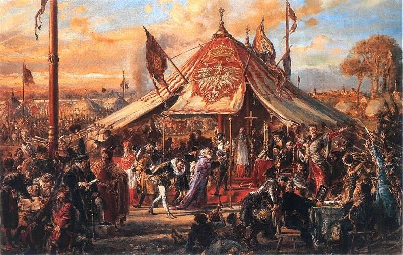 Jan Matejko, Potęga Rzeczypospolitej u zenitu. Złota wolność. Elekcja 1573