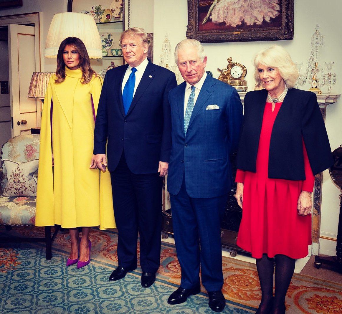 Melania i Donald Trump w Wielkiej Brytanii