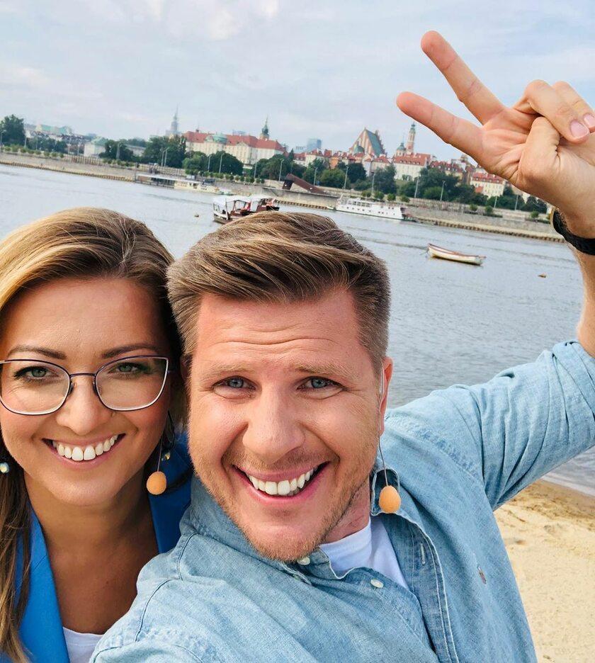 Kinga Burzyńska i Filip Chajzer