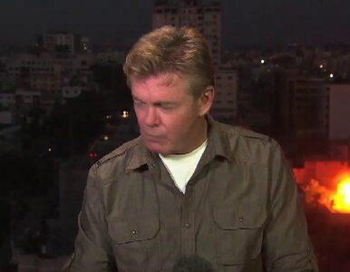 Rakiety trafiły w budynek za plecami korespondenta w Strefie Gazy
