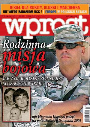 Okładka tygodnika Wprost nr 46/2003 (1094)