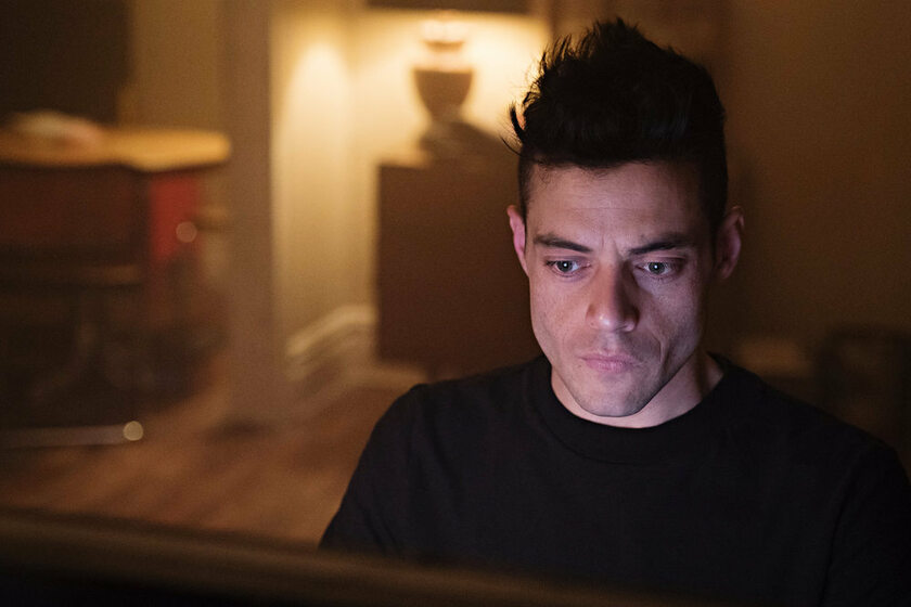 "Rami Malek w serialu  ""Mr. Robot"""
