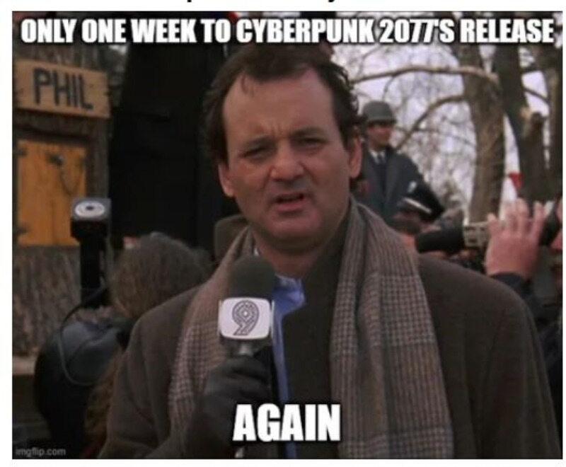 Mem na temat Cyberpunk 2077