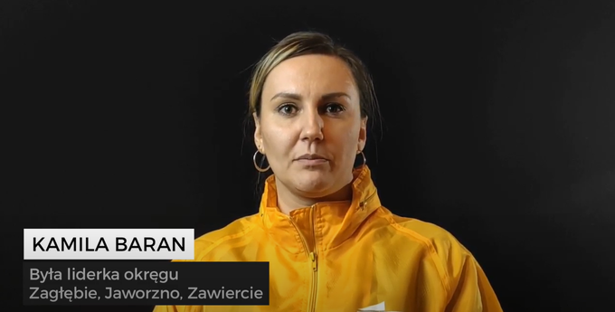 Kamila Baran, liderka okręgu Zagłębie, Jaworzno, Zawiercie