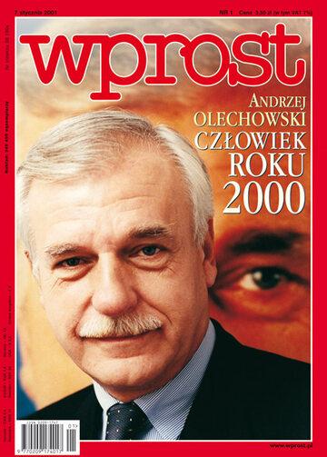 Okładka tygodnika Wprost nr 1/2001 (945)