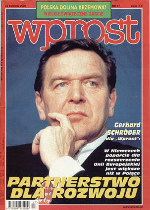 Okładka tygodnika Wprost nr 17/2000 (908)