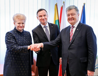 Andrzej Duda o współpracy Polski, Litwy i Ukrainy: Jesteśmy silni wtedy,...