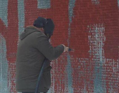 """Piękny gest """"Korpusu Narodowego"""". Ukraińcy czyszczą pomniki w Bykowni"""