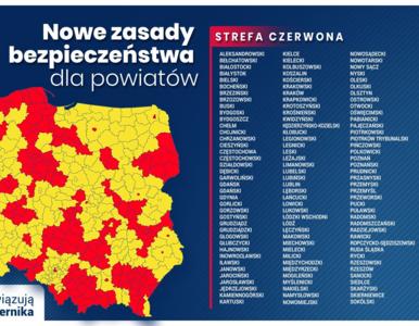 Aktualna lista powiatów w strefie czerwonej. Od dziś obowiązują zmiany