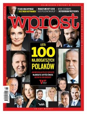 """100 najbogatszych Polaków 2018 - wydanie specjalne tygodnika """"Wprost"""""""