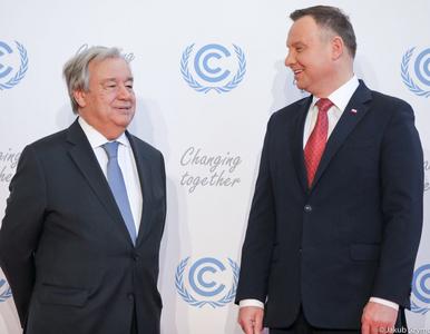 Prezydent spotkał się z Sekretarzem Generalnym ONZ. Uwagę przykuł strój...