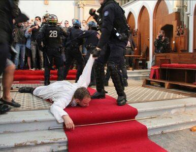 Protest przeciwko rozbiórce kościoła. Policja użyła siły wobec księdza