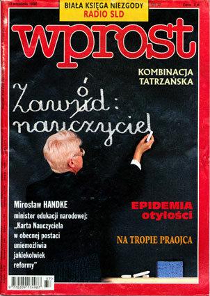 Okładka tygodnika Wprost nr 37/1998 (824)