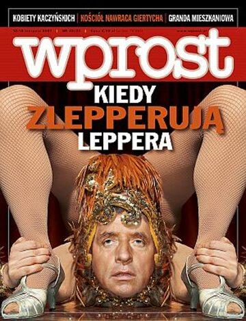 Okładka tygodnika Wprost nr 32/33/2007 (1285)