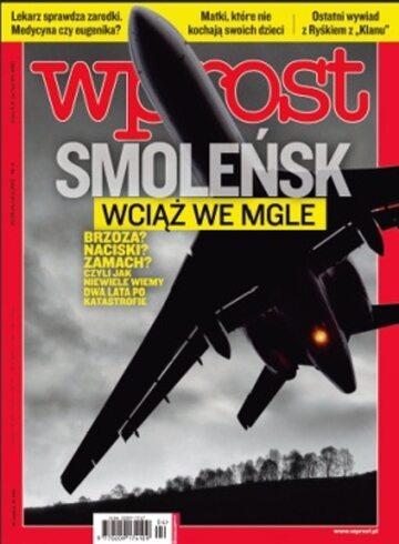 Okładka tygodnika Wprost nr 4/2012 (1510)