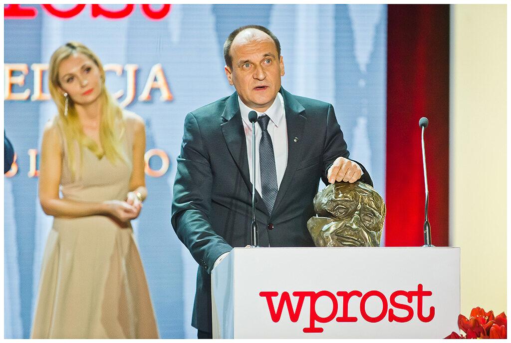 Paweł Kukiz - nagrodzony w kategorii polityk