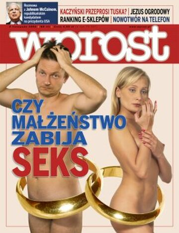 Okładka tygodnika Wprost nr 44/2008 (1349)