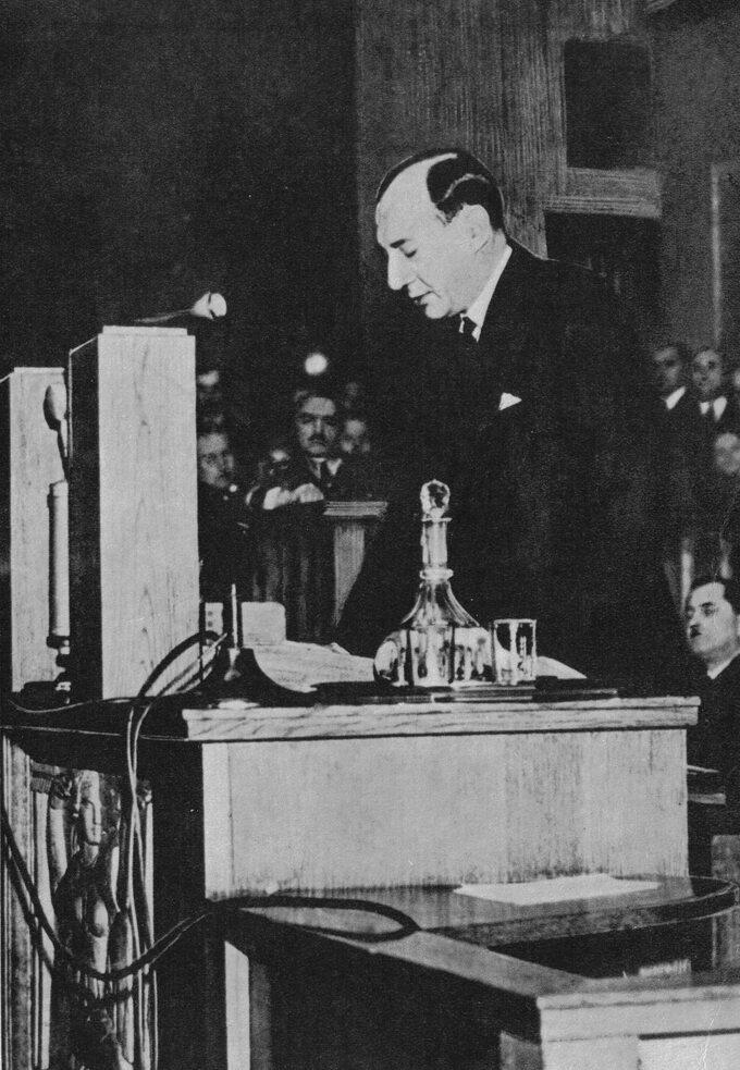 Józef Beck przemawia wSejmie, 5 maja 1939