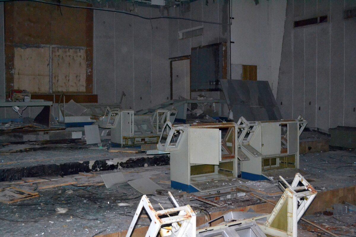 Wnętrze budynków, które zajmowali naukowcy, pracownicy i żołnierze przydzieleni do radaru Duga