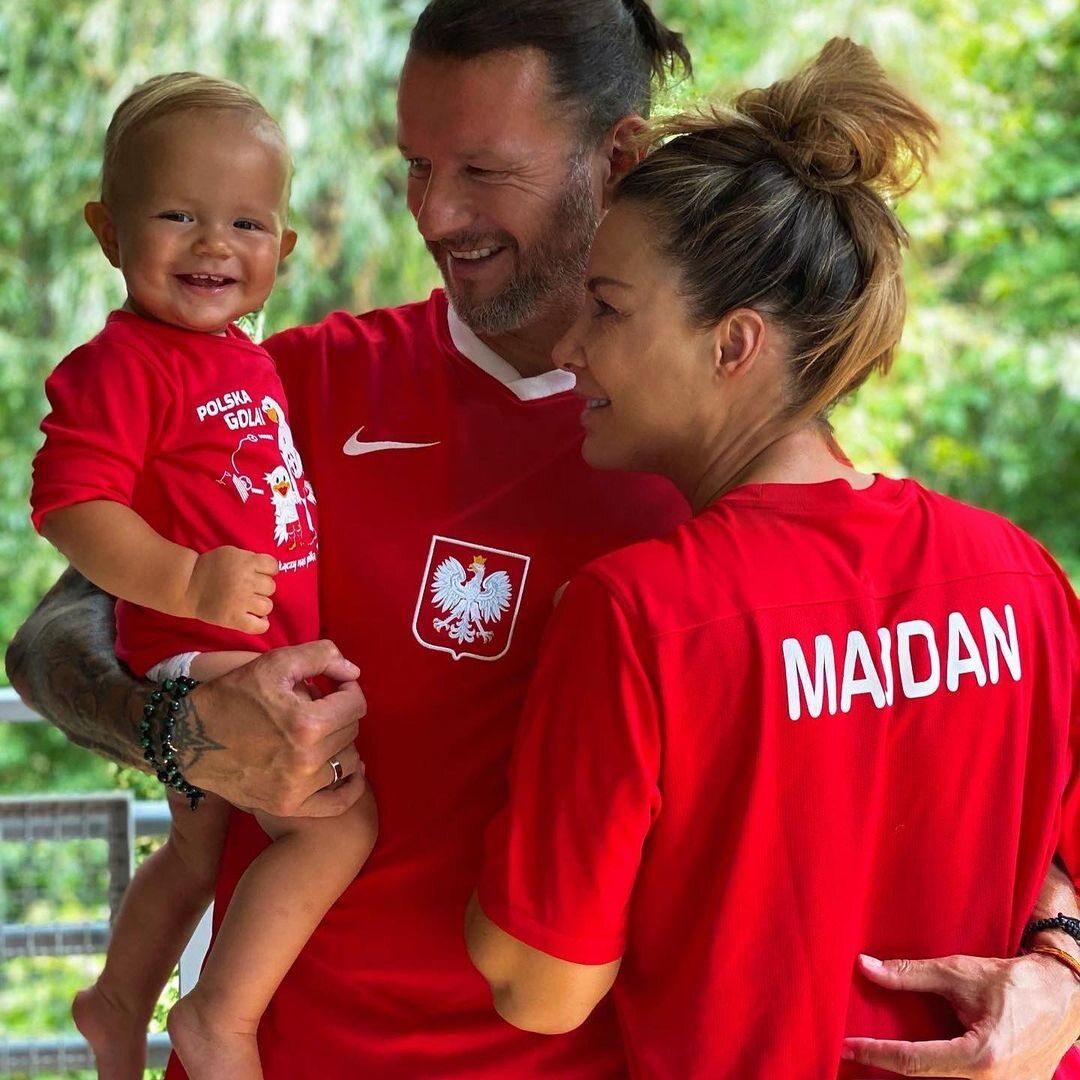 Małgorzata Rozenek-Majdan i Radosław Majdan z synem