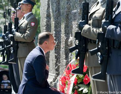 Prezydent Duda złożył wieniec przed Pomnikiem Ofiar Rzezi Woli