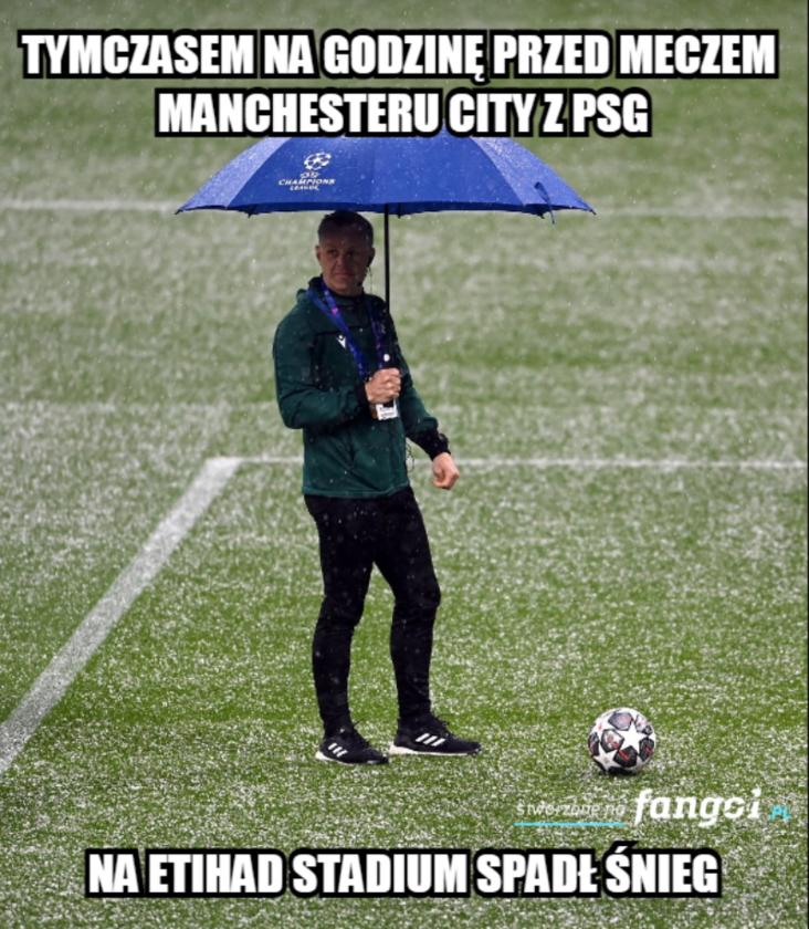 Mem po spotkaniu Manchesteru City z PSG
